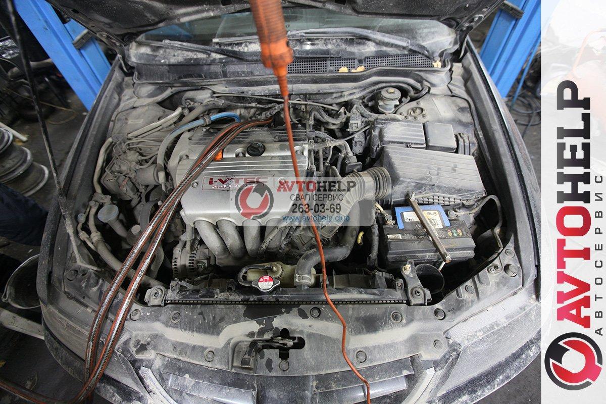 Промывка радиатора печки, Honda Accord