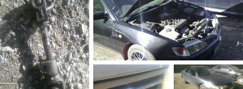 Toyota Corolla Ceres, замена рулевого кардана, замена ступичного подшипника.