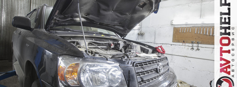 Toyota highlander v6 4wd, замена масла в АКПП и фильтра.