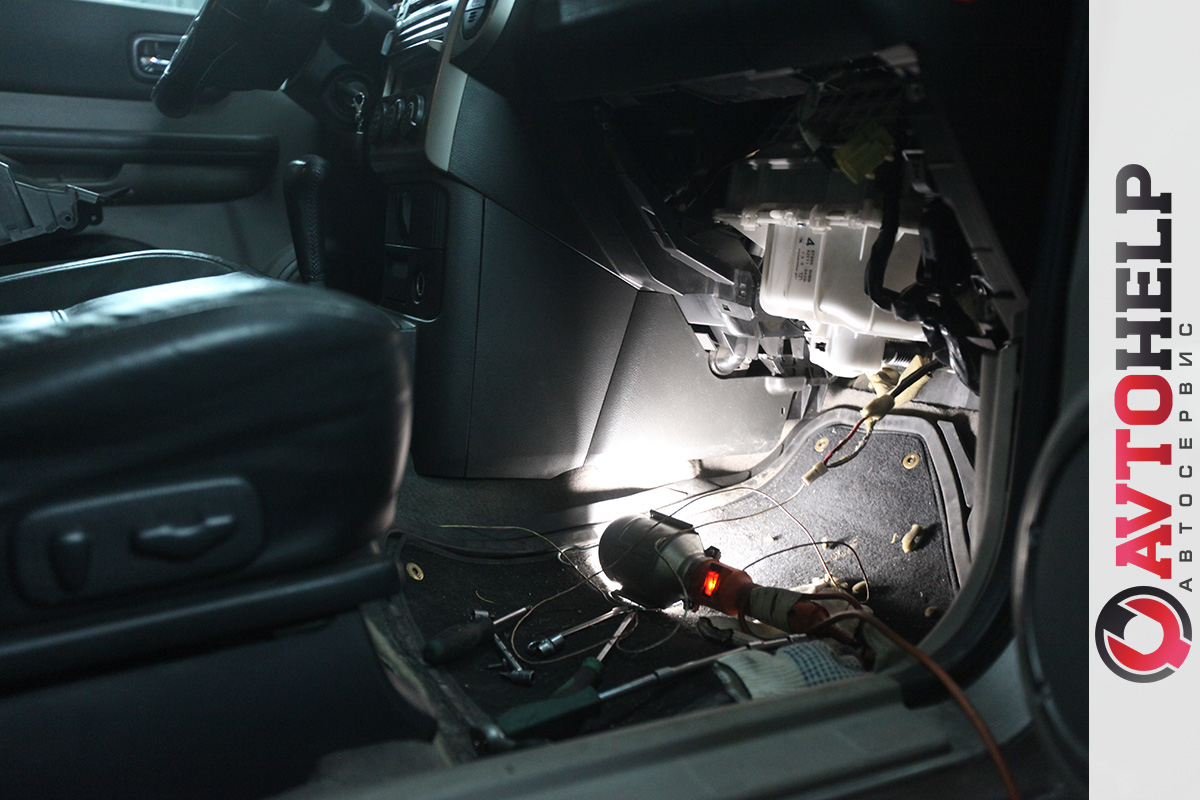 Замена печки в Nissan X-Trail