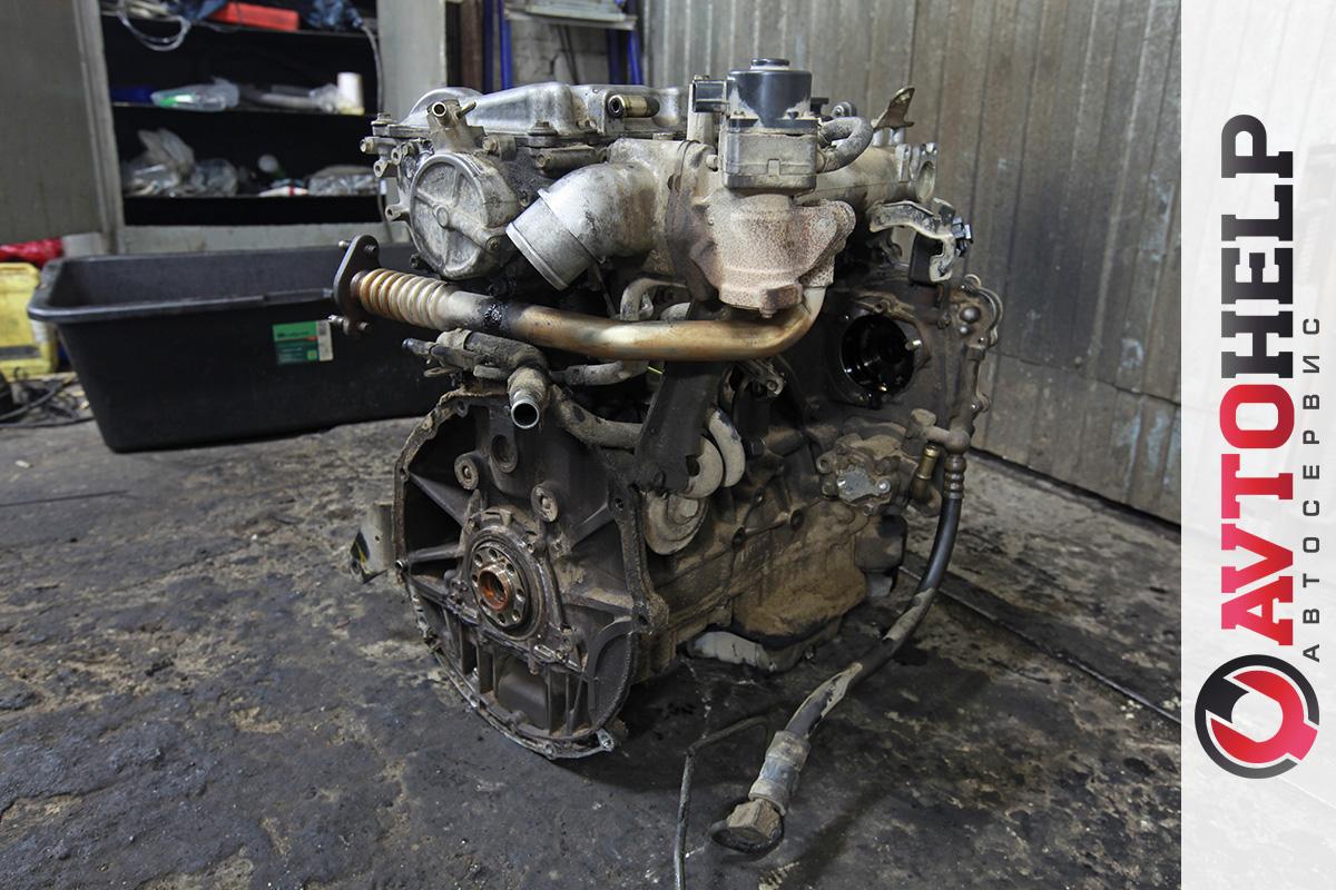 Nissan Almera Tino, замена двигателя на контрактный плюс навесное.