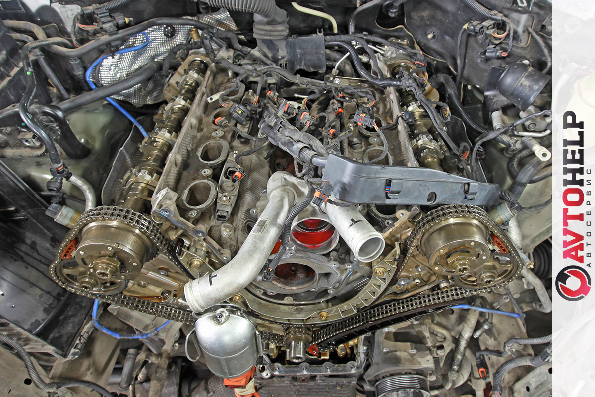 Ремонт двигателя, Porsche Cayenne 2008, S 4.8