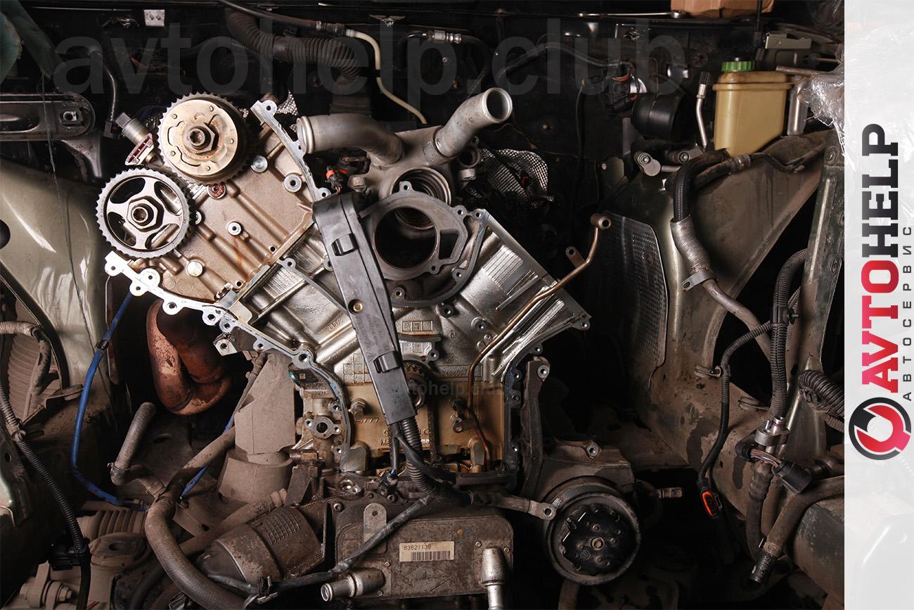 Ремонт двигателя, Porsche Cayenne 2008