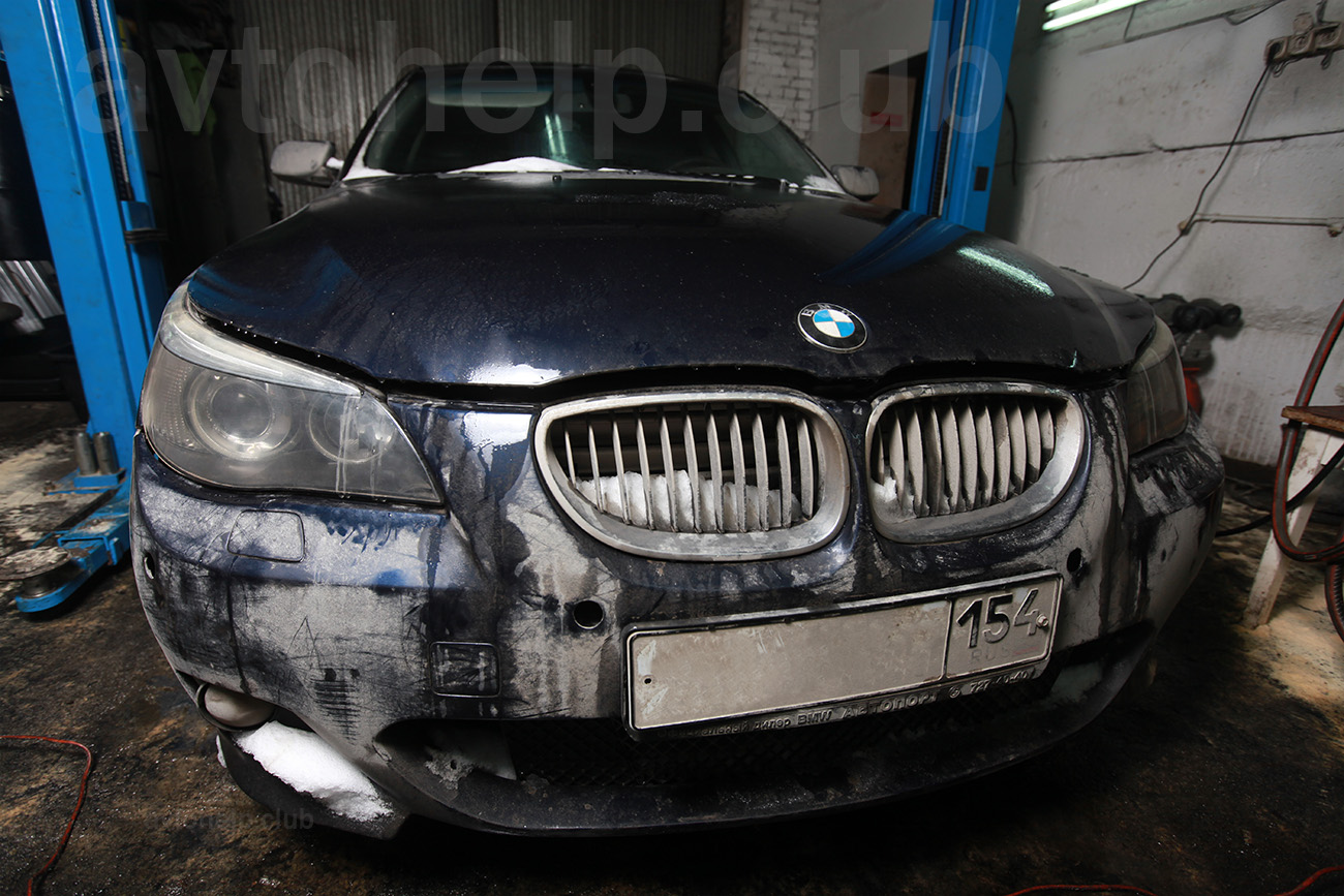 BMW, замена радиатора.