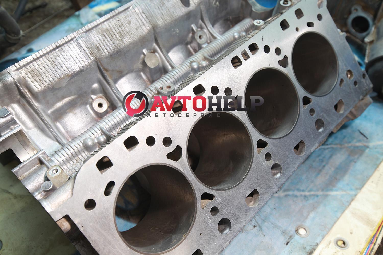 Ремонт двигателя, Porsche Cayenne 2008, гильзовка цилиндров