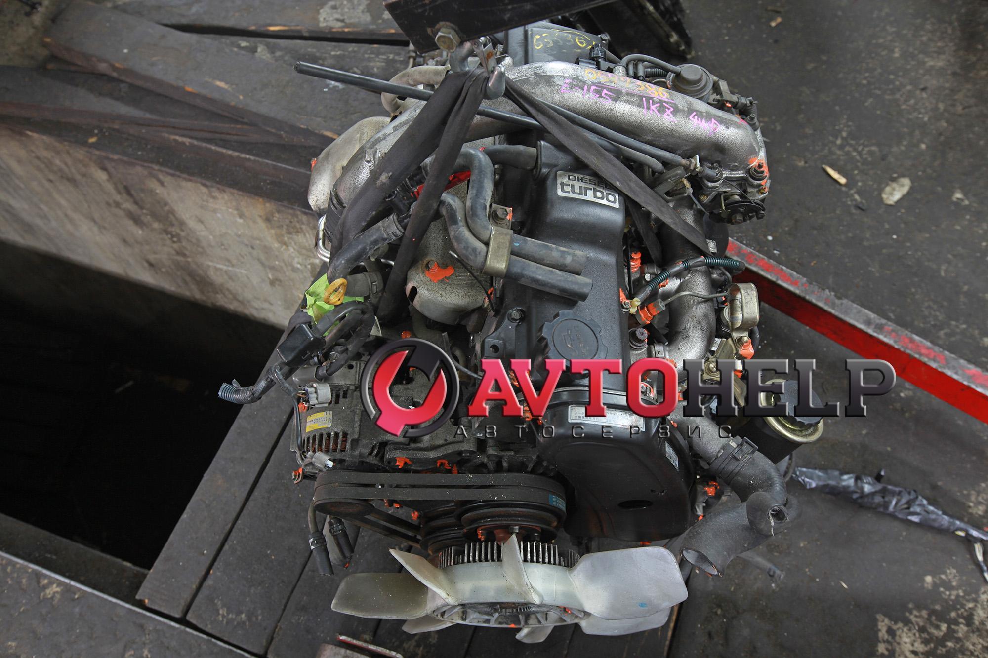 Установка дизельного японского двигателя Toyota 1KZ-TE 4WD на Соболь