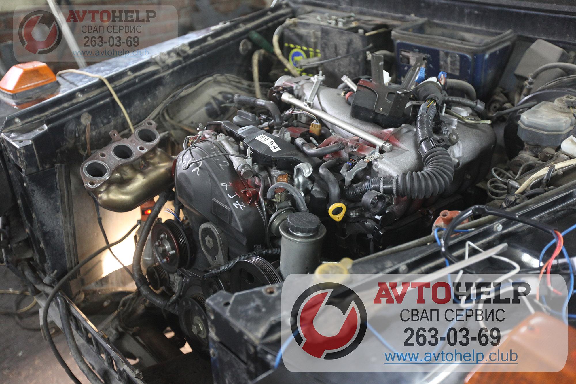 Установка японского двигателя 2JZ-GE в Гелендваген