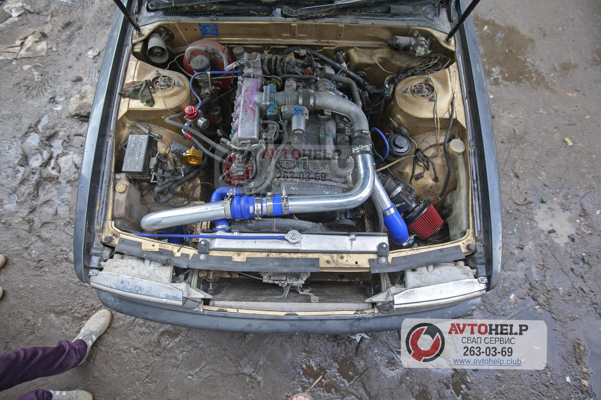 Замена двигателя RB26 на RB25DET на Nissan Laurel