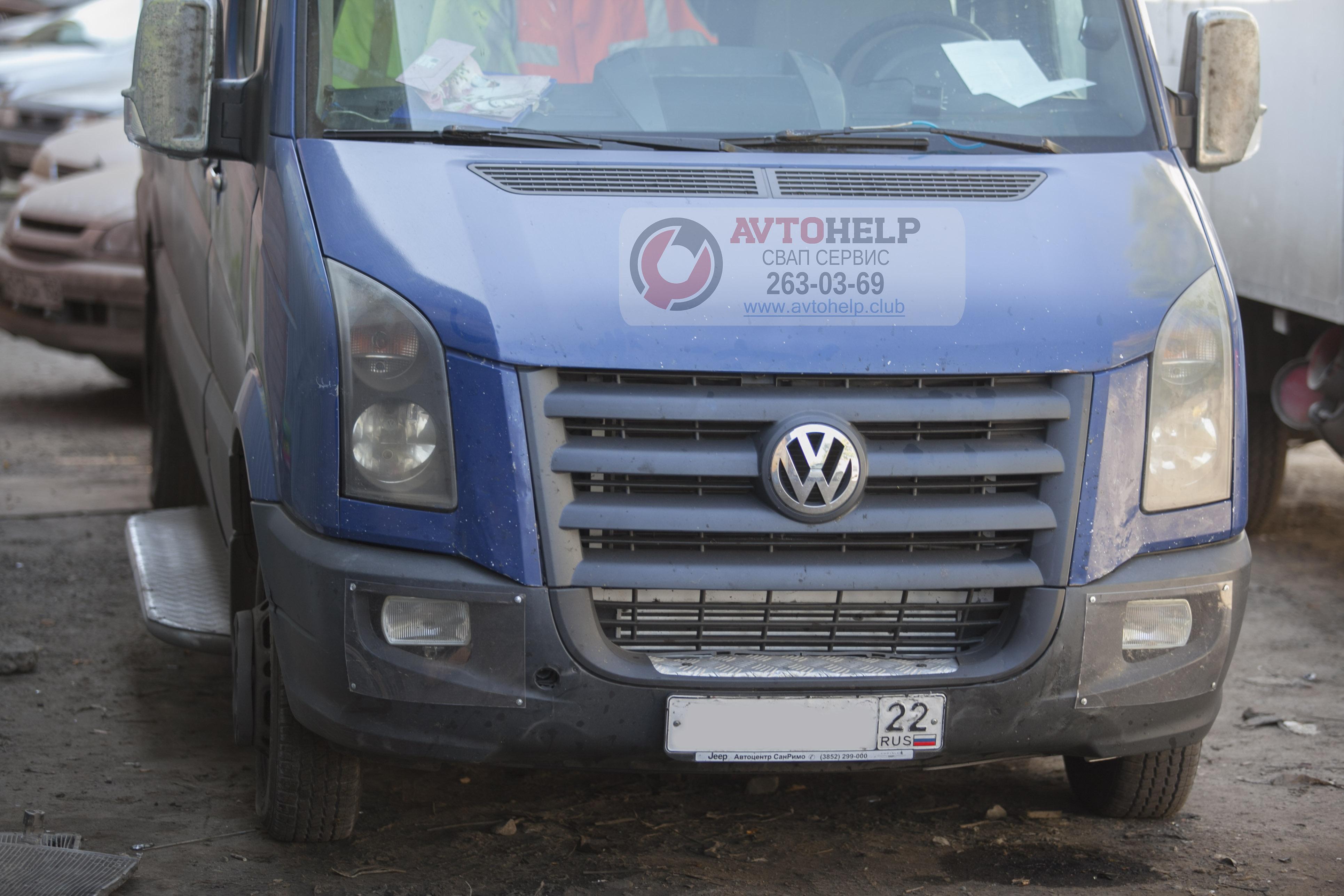 Фольксваген Крафтер - на замену двигателя родного на 3UZ-FE