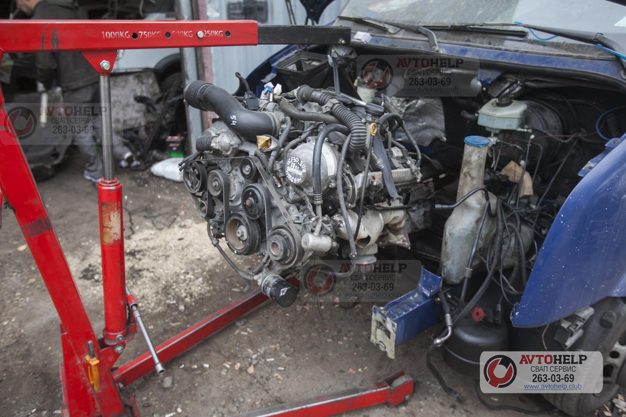 Фольксваген Крафтер, работы по замене двигателя на 3UZ-FE