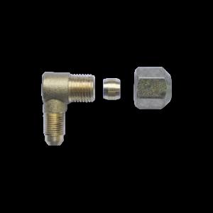 Угол для мультиклапана М10х1 D8/ G1/4 D8 (бонка + гайка)
